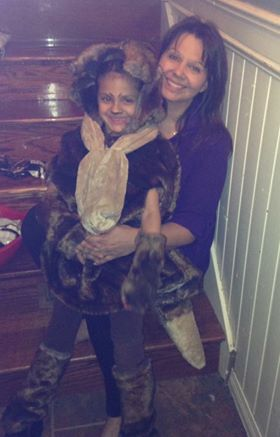 My mother and Janaya on Halloween in '16